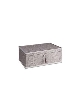 首图 –点击放大 - L'OBJET - 黄铜边缘花纹木质首饰盒 - 大号