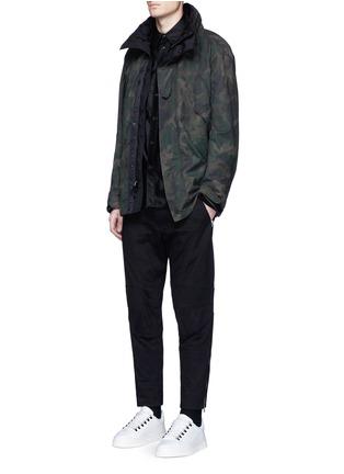 模特儿示范图 - 点击放大 - RAG & BONE - 机车款纯棉长裤