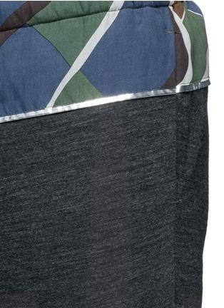 细节 - 点击放大 - KOLOR - 几何图案混羊毛长裤