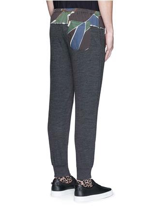 背面 - 点击放大 - KOLOR - 几何图案混羊毛长裤