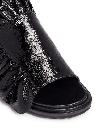 细节 - 点击放大 - MARNI - FUSSBETT荷叶边光泽感小牛皮凉鞋