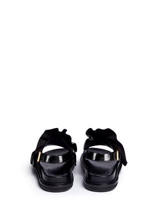 背面 - 点击放大 - MARNI - FUSSBETT荷叶边光泽感小牛皮凉鞋