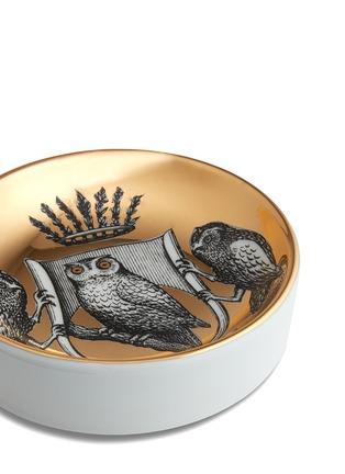 细节 –点击放大 - FORNASETTI - Stemma di Civette猫头鹰圆形烟灰缸