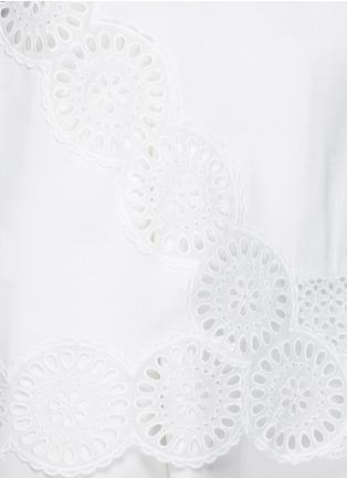 细节 - 点击放大 - STELLA MCCARTNEY - 花卉镂空刺绣装饰混棉上衣