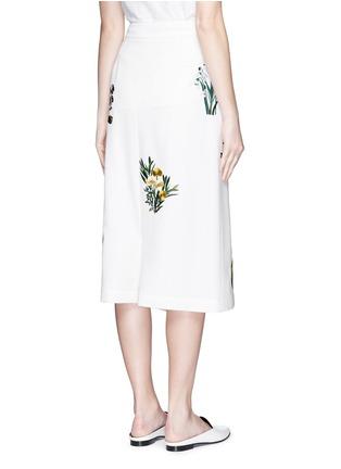背面 - 点击放大 - STELLA MCCARTNEY - 花卉刺绣低裆羊毛短裤