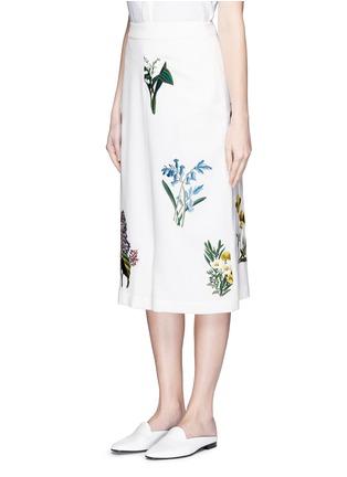 正面 - 点击放大 - STELLA MCCARTNEY - 花卉刺绣低裆羊毛短裤
