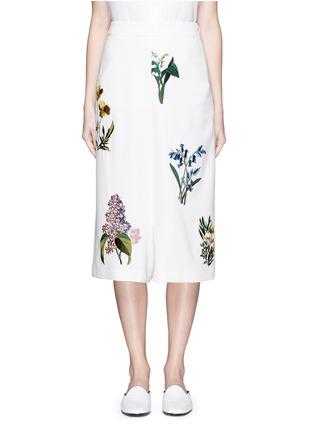 首图 - 点击放大 - STELLA MCCARTNEY - 花卉刺绣低裆羊毛短裤