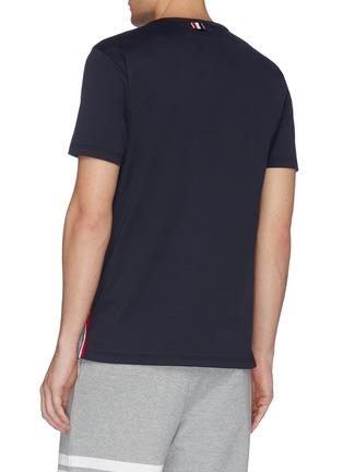 背面 - 点击放大 - Thom Browne - 三色条纹纯棉口袋T恤