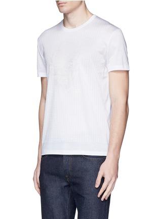 正面 -点击放大 - ALEXANDER MCQUEEN - 骷髅及条纹刺绣纯棉T恤