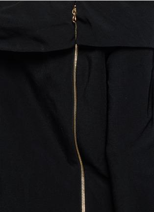 细节 - 点击放大 - LANVIN - 露肩单色绉绸连衣裙