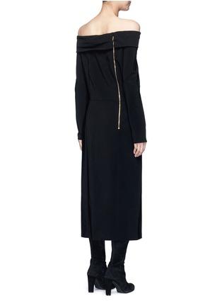 背面 - 点击放大 - LANVIN - 露肩单色绉绸连衣裙