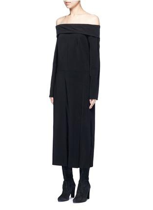 正面 - 点击放大 - LANVIN - 露肩单色绉绸连衣裙