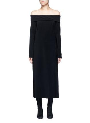 首图 - 点击放大 - LANVIN - 露肩单色绉绸连衣裙
