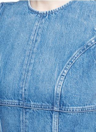 细节 - 点击放大 - ALEXANDER MCQUEEN - 胸衣式拼接牛仔连衣裙