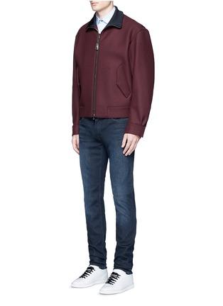 模特儿示范图 - 点击放大 - ACNE STUDIOS - ACE修身中腰水洗牛仔裤