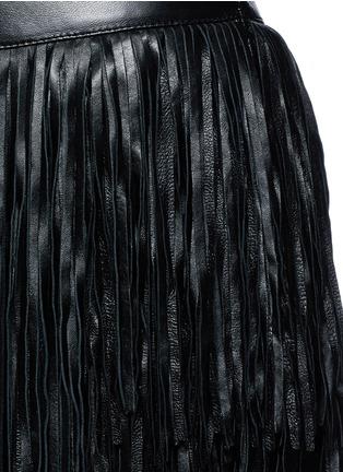 细节 - 点击放大 - SAINT LAURENT - 不对称流苏羊皮短裙