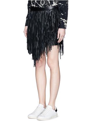 正面 -点击放大 - SAINT LAURENT - 不对称流苏羊皮短裙