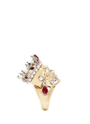 细节 - 点击放大 - Alexander McQueen - 立体皇冠骷髅头戒指