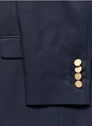 细节 - 点击放大 - Valentino - 单色纯棉西服外套