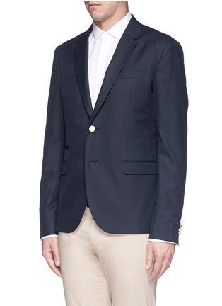 正面 -点击放大 - Valentino - 单色纯棉西服外套