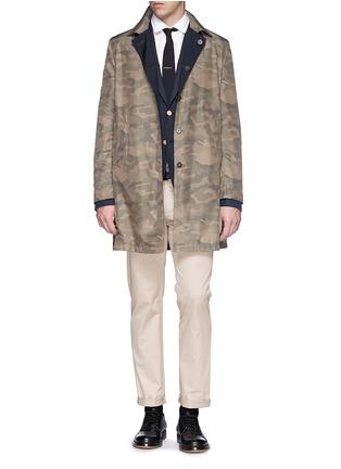 模特儿示范图 - 点击放大 - Valentino - 单色纯棉西服外套