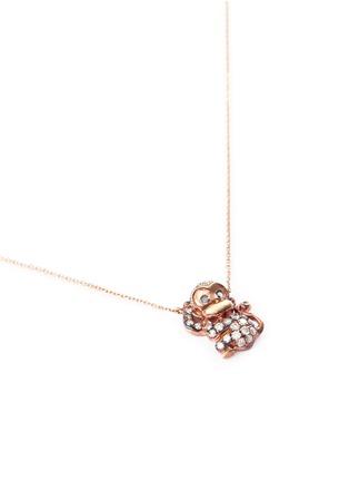 模特儿示范图 - 点击放大 - BAO BAO WAN - 小小系列钻石猴子18K玫瑰金项链