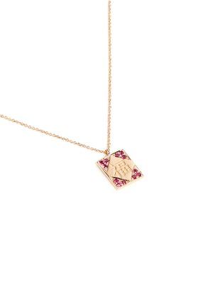模特儿示范图 - 点击放大 - BAO BAO WAN - 小小系列福字红包18K玫瑰金项链