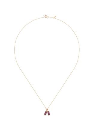 首图 - 点击放大 - BAO BAO WAN - 小小系列红宝石爆竹18K玫瑰金项链