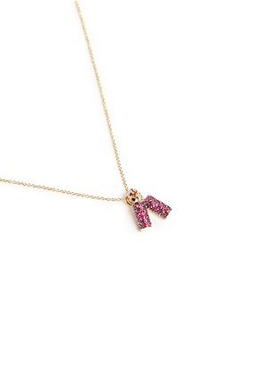 模特儿示范图 - 点击放大 - BAO BAO WAN - 小小系列红宝石爆竹18K玫瑰金项链