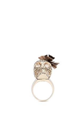 模特示范图 - 点击放大 - ALEXANDER MCQUEEN - 立体蝴蝶骷髅头戒指
