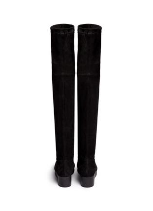 背面 - 点击放大 - CLERGERIE - NATUJ麂皮坡跟过膝长靴