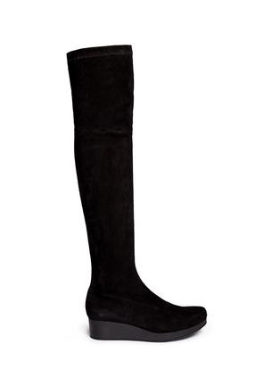 首图 - 点击放大 - CLERGERIE - NATUJ麂皮坡跟过膝长靴