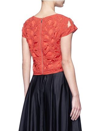 背面 - 点击放大 - ALICE + OLIVIA - POLLIE串珠装饰镂空短款上衣