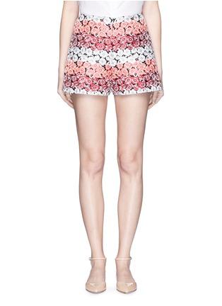 首图 - 点击放大 - GIAMBA - 拼色花卉提花短裤