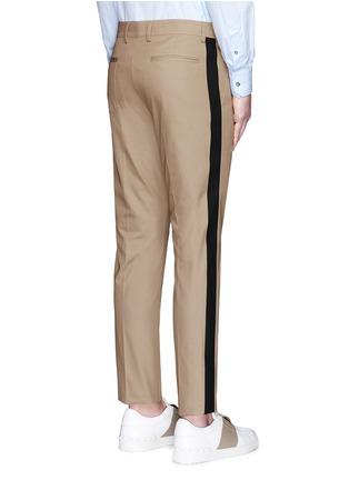 背面 - 点击放大 - VALENTINO - 拼色条纹混棉长裤