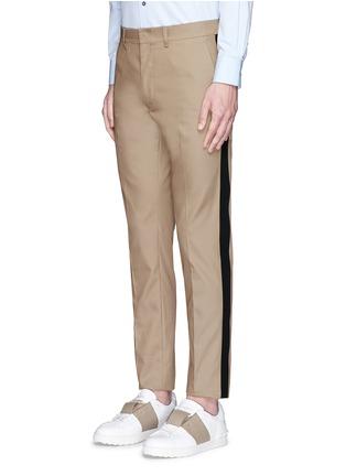 正面 -点击放大 - VALENTINO - 拼色条纹混棉长裤