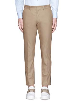 首图 - 点击放大 - VALENTINO - 拼色条纹混棉长裤