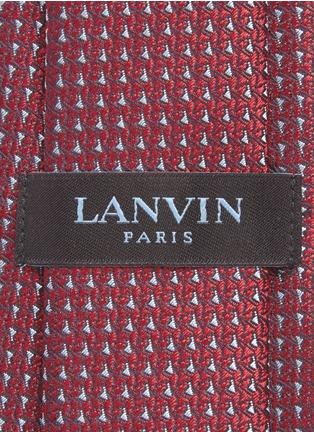 细节 - 点击放大 - Lanvin - 几何图案提花真丝领带