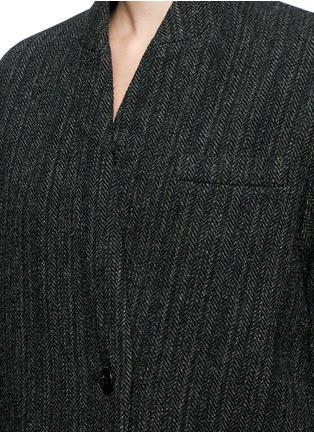 细节 - 点击放大 - ISABEL MARANT ÉTOILE - Henley初剪羊毛大衣