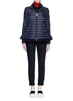 模特儿示范图 - 点击放大 - Moncler - 'Grenouille' drawstring back nylon puffer jacket