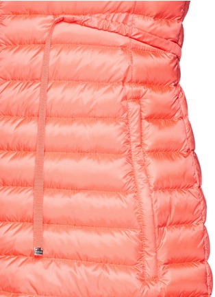 细节 - 点击放大 - Moncler - 'Barbel' drawstring waist hooded long down jacket
