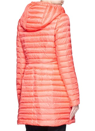 背面 - 点击放大 - Moncler - 'Barbel' drawstring waist hooded long down jacket