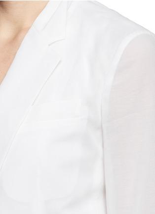 细节 - 点击放大 - THEORY - GRINSON纯棉透薄西服外套