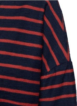 细节 - 点击放大 - CLOSED - 拼色条纹皱感T恤
