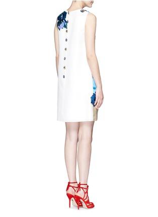 背面 - 点击放大 - DOLCE & GABBANA - 珠片装饰风景图案真丝连衣裙
