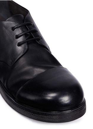 细节 - 点击放大 - Marsèll - Zucca Zeppa真皮圆头德比鞋