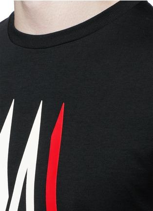 细节 - 点击放大 - MONCLER - 字母胶印纯棉T恤
