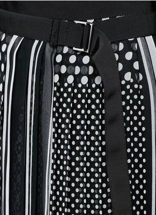 细节 - 点击放大 - SACAI - 波点围巾印花百褶半身裙