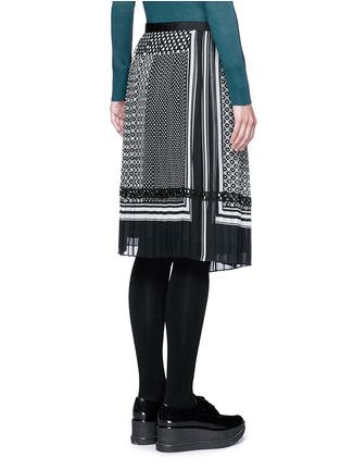 背面 - 点击放大 - SACAI - 波点围巾印花百褶半身裙