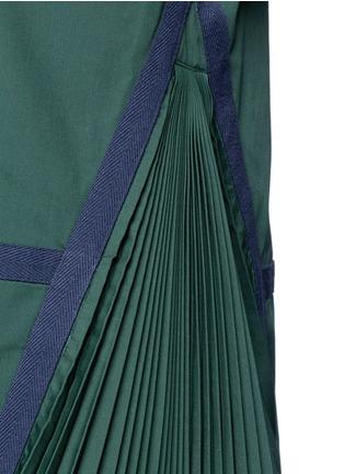 细节 - 点击放大 - SACAI - 布条边饰百褶拼接上衣